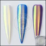 Aurora-Einhorn-Chrom-Spiegel-Neonfunkeln-ultradünnes Nixe-Pigment für Nagel-Kunst-Dekorationen der Maniküre-DIY
