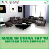 Sofà di legno di cuoio domestico stabilito della mobilia nordica