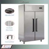 Вертикальный нержавеющая сталь, утвержденном CE коммерческих холодильник морозильный аппарат