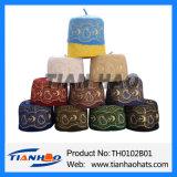 Casquillos islámicos del rezo del fieltro de las lanas del bordado