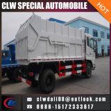 12-14cbm 단미 쓰레기 트럭, 쓰레기 압축 분쇄기 쓰레기 트럭