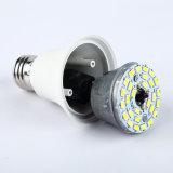 luz de bulbo do diodo emissor de luz A60 de 24V Plastic+Aluminum com RoHS