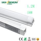 Calidad integrada caliente 18W del proyecto del tubo de la lámpara del corchete del vendedor 1200mmt8. Tubo fluorescente del LED