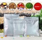 Плоский низ твердых серебристая алюминиевая фольга упаковочный клапан молнии сумка/Незакрываемое майларовый Auto Zip пакет для блокировки конфеты кофе