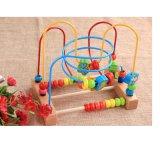 Les enfants de l'éducation Transporteur à rouleaux de bande dessinée en bois d'insectes sur le fil cordon Labyrinthe Toy