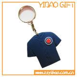 Trousseau de clés en caoutchouc de chemise du football de PVC pour le cadeau promotionnel