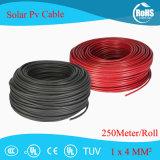 Vermelho e Preto e TUV UL solar de alta qualidade 4mm 12AWG Cabo PV 4,0MM SQ XLPE fio PV cabo estendido