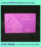 자석 줄무늬 광택 있는 박판으로 인쇄하는 플라스틱 카드 4 색깔
