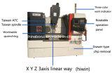 금속 (XK7124)를 위한 최고 작은 4개의 축선 CNC 축융기