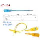 Prueba de manipulaciones de la etiqueta numerada el sello de plástico Kd-104