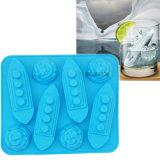 Kundenspezifisches Firmenzeichen FDA Nahrungsmittelgrad-tonisches Silikon-Eis-Würfel-Tellersegment, Eis-Form