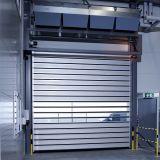 Porte automatique de garage de Flexon de guichet en aluminium d'obturateur à grande vitesse de rouleau (Hz-FC0365)