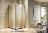 De vidro transparente com chuveiro porta rebatível