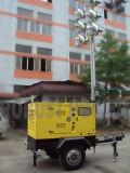 Macchina mobile Cummins Kubota Isuzu Perkins della strumentazione di pianta della torretta chiara di illuminazione di ampia area del generatore mobile della torretta