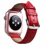 42mm Krokodil-Muster-echtes Leder-Uhrenarmband für Apple