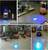 8W LED azul haz puntual de la luz de advertencia de seguridad montacargas