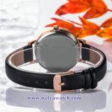 Correa de cuero OEM Wist Dama relojes de cuarzo, Reloj de dama (WY-17030B)