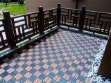 С легкостью сборки 300X300мм блокировка DIY WPC палубе плиткой WPC этаже плитка