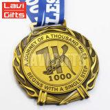 La Chine de souvenirs militaires personnalisée en usine Sport Médaille en métal avec du ruban de cou Lanyard