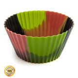 Прессформа Bakeware торта силикона качества еды УПРАВЛЕНИЕ ПО САНИТАРНОМУ НАДЗОРУ ЗА КАЧЕСТВОМ ПИЩЕВЫХ ПРОДУКТОВ И МЕДИКАМЕНТОВ, чашка Mufflin