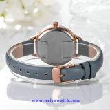 Reloj de Wist del cuarzo de la mujer de la correa de cuero, servicio del OEM de los relojes de señora (WY-17023)