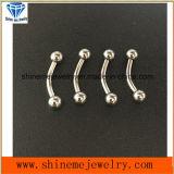 Lichaam het van uitstekende kwaliteit Piercing&#160 van het Titanium van Juwelen; Gebogen (CURD001)