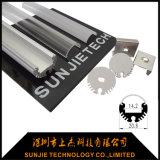 Runder anodisierter Aluminiumstrangpresßling für LED-Gefäß-Licht verschob eingehangen