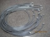 Flexible de douche en acier inoxydable chromé, EPDM, l'écrou Brassl, 1,5 m de longueur, de l'approbation de l'ACS
