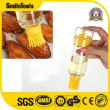 Outils de cuisine de silicones arrosant la bouteille faisant cuire le balai d'huile de silicone avec l'étalonnage