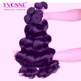 Extensión al por mayor peruana del pelo humano de Remy de la Virgen del pelo de Yvonne