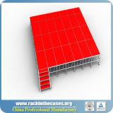 Stade de rk en aluminium portable avec Red Platdorm pour mariage/Afficher