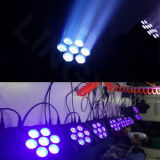 DMX Cabezal movible de la Etapa 7pcs*12W de luz LED Wash