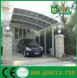 Riparo dell'automobile del blocco per grafici di Aluminuim con il tetto curvo del policarbonato
