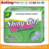 Superultra Baumwollgesundheitliche Servietten 290mm, glänzendes Mädchen-gesundheitliche Auflagen