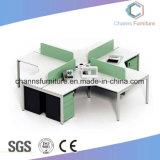 Два места классический дизайн офисной рабочей станции деревянный стол компьютера CAS-W1855