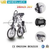 세륨 16 인치 1개 초 접히는 압축 전기 자전거
