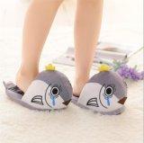 Casa en forma de pez zapatillas de felpa suave