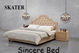Sk17 미국식 침실 직물 침대