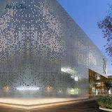 El panel de aluminio de la pared de aluminio moderna del revestimiento en talla modificada para requisitos particulares