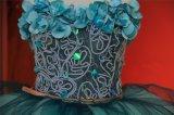 رخيصة [فلوورل] منخفضة زرقاء حزب [بروم] ثوب بالجملة عاليا 2018