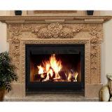 マントルピースの環境のためのベージュ大理石の石造り暖炉