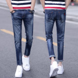 Сломленные моя джинсыы человека с цветастой картиной на Waistband (HDMJ0021-17)