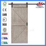 Puerta de madera Pocket doble compuesta de Cambridge