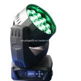 19 12W RGBWのビームズームレンズLEDの移動ヘッドライト