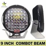 Offroad 96W 12V 185W 9pouce CREE LED phare de travail ronde pour chariot élévateur à fourche VTT pelle Tracteur voiture camion bateau UTV Spot de lumière