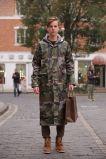 カムフラージュの耐久のレインコートポリエステルレインコートの人のRainwear
