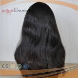 Virgin 머리 검정 색깔 여자 가발 (PPG-l-01596)