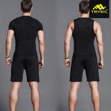 Los tanques activos de la compresión de la camisa de las medias del deporte del Tracksuit de los hombres
