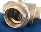 Stainless Steel Female L/T type Thread Three 3 Way ball valve