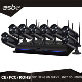 câmara de segurança sem fio do CCTV do IP de WiFi do jogo de 8CH 960p NVR